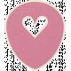 A Mother's Love- Pink Heart Arrow Doodle