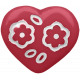 A Mother's Love- Pink Heart Button