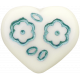 A Mother's Love- Teal Heart Button