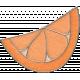 Picnic Day- Orange Half Slice Doodle 2