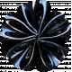 Summer Day - Black Fabric Flower