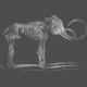 Chills & Thrills - Mammoth Chalk Skeleton Stamp