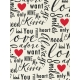 Toolbox Valentine's Kit 1- 3x4 Love Words Journal Card