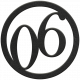 Toolbox Numbers- Black Circle Number 06