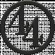 Toolbox Numbers- Black Circle Number 44
