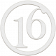 Toolbox Numbers- White Circle Number 16