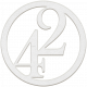 Toolbox Numbers- White Circle Number 42