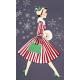 Memories and Traditions - Ephemera Card Walking Lady