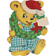 Memories and Traditions- Ephemera Card Bear with Wreath