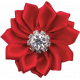 Memories & Traditions - Red Diamond Ribbon Flower