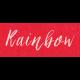 Spring Day- Rainbow Word Art