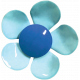 Good Vibes- Blue Flower