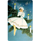 Memories And Traditions- Ephemera Card Lady Sitting on Branch
