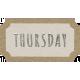 Toolbox Calendar- Thursday Ticket White