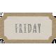 Toolbox Calendar- Friday Ticket White