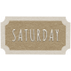 Toolbox Calendar- Saturday Ticket Brown