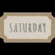 Toolbox Calendar- Saturday Ticket White