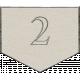 Toolbox Calendar - Arrow Number 2 White
