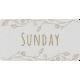 Toolbox Calendar- Sunday Floral Date Tag 02