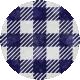 Apple Crisp- Blue Gingham Brad Disk