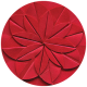 Apple Crisp- Red Paper Flower Brad Disk