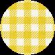 Apple Crisp- Yellow Gingham Brad Disk