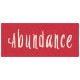 Day of Thanks- Abundance Word Art