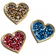 Toolbox Styles Glitter & Metal- Glitter Enamel Hearts