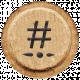 Toolbox Alphabet Bingo Chip Extras- Hashtag Bingo Chip