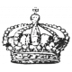 Crown Stamp Template 013