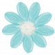 All the Princesses - Painted Teal Flower 04