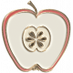 Apple Crisp- Enamel Apple Charm 07