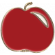 Apple Crisp- Enamel Apple Charm 08