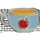 Apple Crisp- Enamel Drink Charm 03
