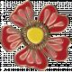 Apple Crisp- Enamel Flower Charm 02