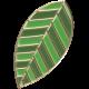 Apple Crisp- Enamel Leaf Charm 06