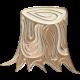 Apple Crisp- Enamel Tree Stump Charm