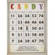 Candy Bingo Card