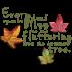 Fall Into Autumn- Shadowed Fluttering Word Art