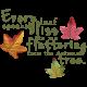 Fall Into Autumn- Unshadowed Fluttering Word Art