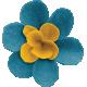 Woodland Winter- Blue & Yellow Felt Flower