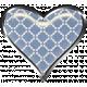 Rustic Charm- Heart Charm Blue