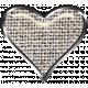 Rustic Charm- Heart Charm Brown