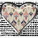 Rustic Charm- Heart Charm Ornamental