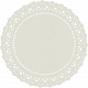 Look, A Book!- White Doily