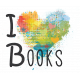 Look, A Book!- I Heart Books Word Art