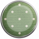Strawberry Fields- Dark Green Dot Brad