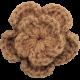 Strawberry Fields- Brown Crochet Flower