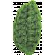 Strawberry Fields- Green Crochet Leaf 2