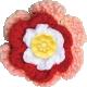 Strawberry Fields- Multi-Color Crochet Flower